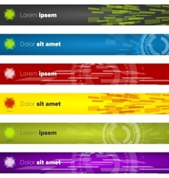 Horizontal web banners templates vector image
