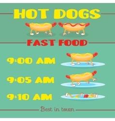 Hot dog banner vector