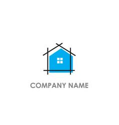 house realty concept logo vector image