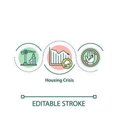 Housing crisis concept icon vector