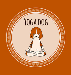 Image a cartoon funny dog beagle sitting on vector