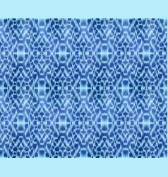Indigo shibori dyed textile seamless pattern vector