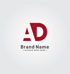 Initial letter ad logo - simple business logo vector