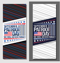 layouts for patriot day vector image