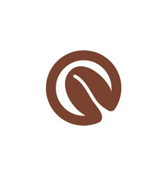 letter o and seed coffee beans logo designs vector image