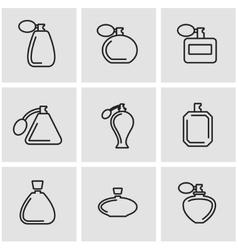 Line perfume icon set vector
