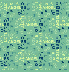 Los angeles seamless pattern vector