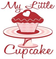 My Little Cupcake vector