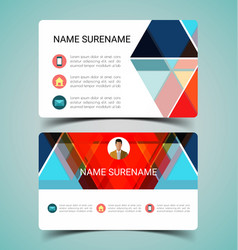name card template2 vector image