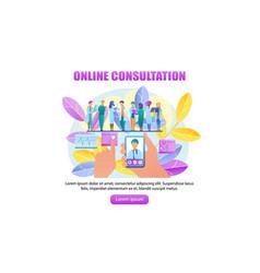 Online consultation doctor vector