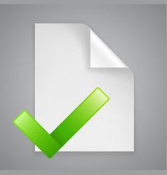 Paper symbol check vector