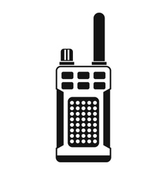 Portable handheld radio icon simple style vector