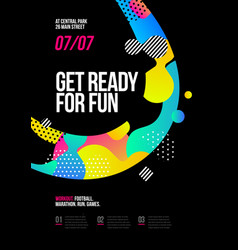 poster design for fun event party or competition vector image