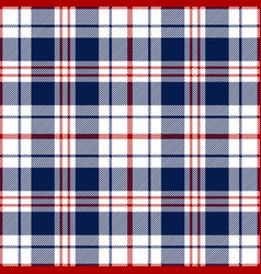 Red blue tartan plaid pattern vector