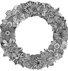 Retro Floral Wreath vector image