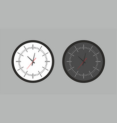 round wall clock vector image
