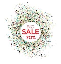 Sale confetti banner on white background Sale vector image