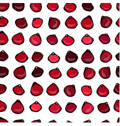 seamless pattern with cranberry on a white vector image