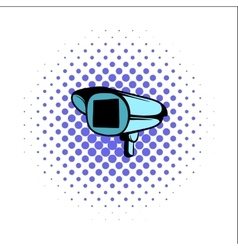 Security camera comics icon vector