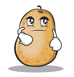 smirking potato character cartoon style vector image