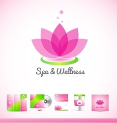 Spa wellness lotus logo icon vector