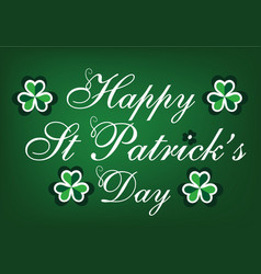 st patricks day holiday card vector image