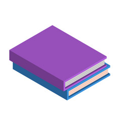 stack of school book icon isometric style vector image