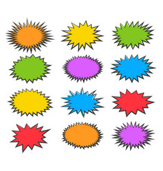 Starburst bubbles set vector