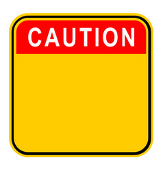 sticker caution safety sign vector image