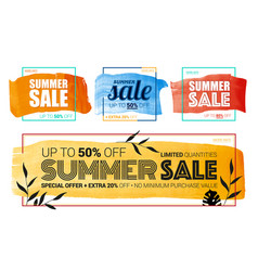 summer sale design collection vector image