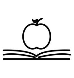 the concept of the book pages and apple vector image