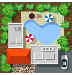Top view of houses vector image
