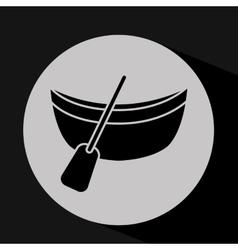 transportation silhouette design vector image