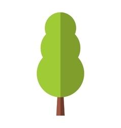 Tree flat symbol vector image