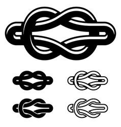 unity knot black white symbols vector image