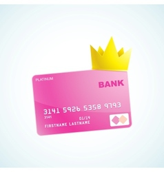 Vip credit card vector