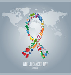 world cancer day-10 vector image