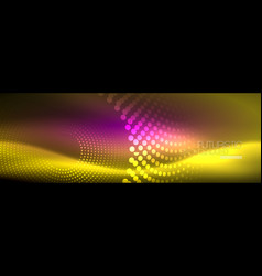 yellow neon abstract background with dotted vector image