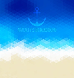 Abstract beach triangular background made of vector image vector image