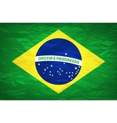 An old grunge flag of Brazil state vector image
