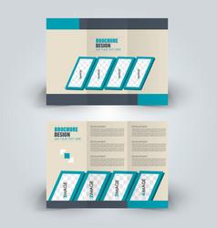 brochure mock up design template tri-fold vector image vector image