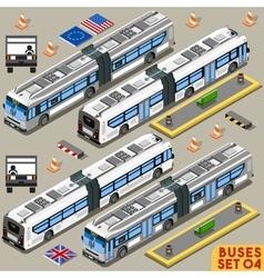 Bus Set 04 Vehicle Isometric vector image