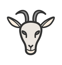 goat face vector image vector image