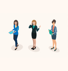business women office staff vector image