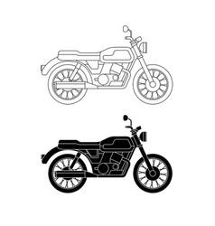 Line classic bike vector
