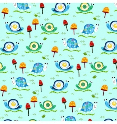 retro snail pattern vector image