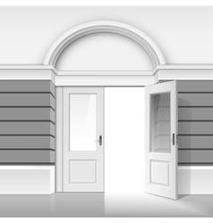 Shop Museum Boutique Building with Open Glass Door vector image vector image