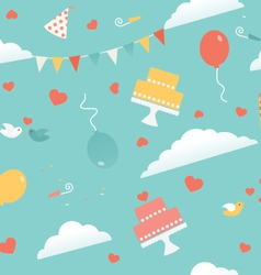 Wedding Party Seamless Pattern vector image vector image
