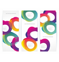 banners with abstract multicolored background vector image vector image