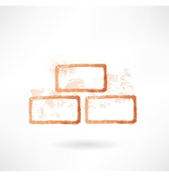 bricks grunge icon vector image
